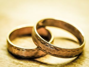 Two wedding rings layered